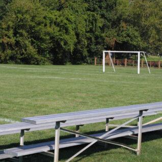 soccer field with bleachers