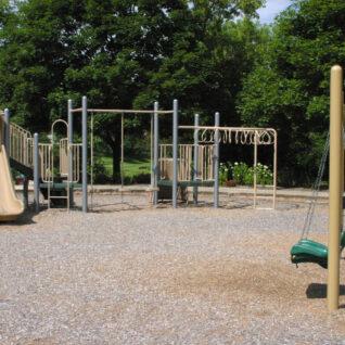 swings, slides, monkey bars